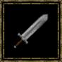 Epée large en fer