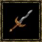 Epée serpentine en titane